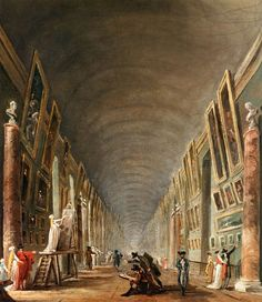 Hubert Robert, The Grande Galerie (detail), c. 1795 - Oil on canvas - Musée du Louvre, Paris