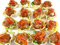 Meatball Tostados  From Heather Armstrong