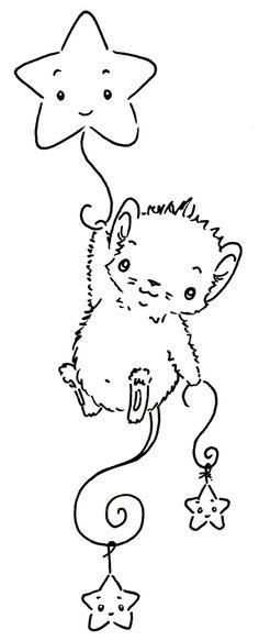 Sliekje digi Stamps: Star mouse