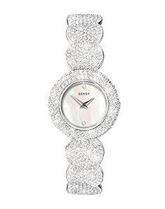 Seksy White Mother of Pearl dial Stone Set Bracelet made with 579 Swarovski® Crystals Ladies Watch 4851.37 Seksy http://www.amazon.co.uk/dp/B009NTA842/ref=cm_sw_r_pi_dp_EWGWwb1BJ2CS1
