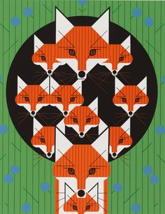 Foxsimilies by Charley Harper --- for @Chelsea Ling, of course. :D