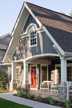Exterior Paint Schemes, House Paint Exterior, Exterior Paint Colors, Exterior House Colors, Paint Colors For Home, Exterior Design, Craftsman Exterior Colors, Paint Colours, Craftsman Interior