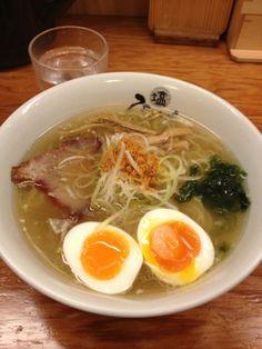 塩ラーメン専門店 ひるがお 東京駅店 in 千代田区, 東京都. Huzzah! While the folks of Serious Eats didn't remember the name of this place, some basically photo browsing on Pinterest turned this sexy bowl of shio ramen up. Must have before departing Tokyo on Shinkansen. http://www.seriouseats.com/2012/09/best-things-to-eat-in-japan-tokyo-kiso-village-kyoto-fukuoka-slideshow.html#show-273343