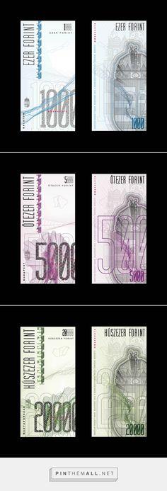 Currency redesign - HUF on Behance by Virag Veszteg