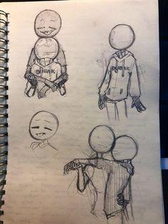 Cartoon Drawings, Cute Drawings, Drawing Sketches, Kunst Inspo, Art Inspo, Arte Indie, Arte Sketchbook, Anime Kunst, Art Poses