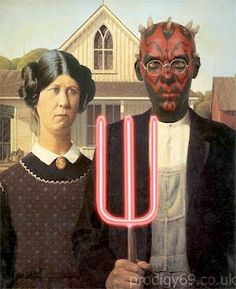 American Gothic Parodies Based On Famous People Or Characters These Are Mostly Just For Laughs Tough A Few Poilitical Satire Moviee Ads