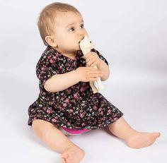 Robe Bébé fille velours Elena de la boutique BenedicteJoly sur Etsy