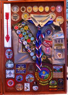 Eagle Scout Shadow Box Scout Mom, Girl Scout Swap, Girl Scout Leader, Cub Scouts, Boy Scout Badges, Eagle Scout Ceremony, Boy Scout Camping, Eagle Project, Scout Uniform