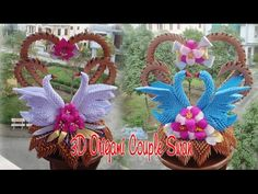 Live: How to Make Origami Wedding Swans Origami 3d, Origami Swan, Origami Wedding, Paper Crafts Origami, Modular Origami, Paper Quilling, Diy Paper, Origami Lantern, Lantern Diy