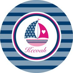 Sail Away With Me-Personalized Melamine Plate. $18.50, via Etsy.