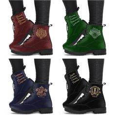 Harry Potter 4 Houses Boots - Hogwarts 4 Houses Boots from - Flash sale now discount - Cheap women boots Colar Do Harry Potter, Harry Potter Mode, Bijoux Harry Potter, Objet Harry Potter, Harry Potter Shoes, Harry Potter Bedroom, Harry Potter Merchandise, Harry Potter Style, Harry Potter Outfits