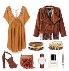 """""""Gypsy Wanderer"""" by karla-snyders on Polyvore featuring Aquazzura, Chloé, MANGO, Marc Jacobs, Daniel Wellington, Givenchy, Chico's, Alex and Ani, women's clothing and women"""