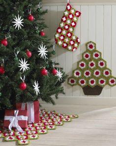Granny Christmas Set Crochet Pattern