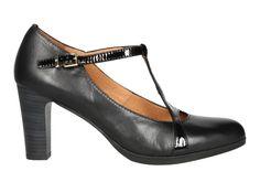 d8bc90173 Zapato de señora en color negro con corte pepito. Zapatos de Talla - Calzados  Gody