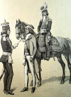 From left to right: Major General in official uniform, Tadeusz Kosciuszko during the oath on the market in Krakow, Lieutenant General of the Grand Duchy of Lithuania 1789. Fig. B. Gembarzewski.