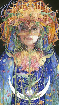 The Final Flowering Virgin Mother goddess by Helena Nelson Reed