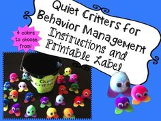 *Newly Updated!* Quiet Critter Behavior Management Printable
