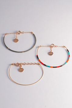Bracelet Jonc Dune Perles Miyuki multicolore Plus