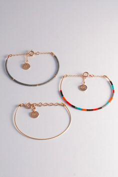 Bracelet Jonc Dune Perles Miyuki multicolore