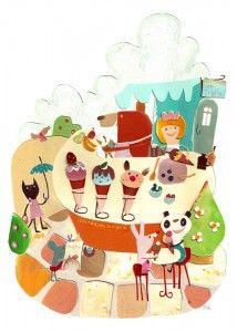 pepar collage by natsuko kawatsu Ilustraciones infantiles Graphic Design Illustration, Illustration Art, Animal Illustrations, Cute Bears, Super Cute, Kids Rugs, Kawaii, Holiday Decor, Paper
