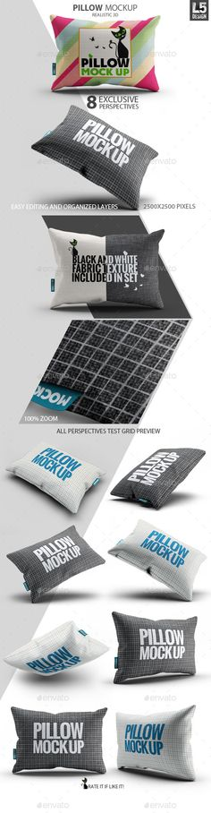 Fabric Pillow Mock-Up | #pillowmockup | Download: http://graphicriver.net/item/fabric-pillow-mockup/10270404?ref=ksioks