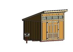 An easy to build modern shed plan. 10x12 size.  Plan for sale at http://www.diy-plans.com