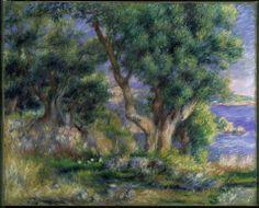 Pierre-Auguste Renoir, Landscape on the Coast, near Menton, 1883.