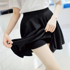 Cheap skirt yellow, Buy Quality skirt classic directly from China skirt vest Suppliers: 2015 Summer Women New Lined Anti Emptied Pleated Skirts High Waist Casual Solid Shorts Skirts Women's Mini Skirts, Cheap Skirts, A Line Skirts, Short Skirts, Jupe Swing, Swing Skirt, Pleated Shorts, High Waisted Skirt, Swing Rock