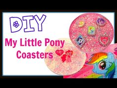 My Little Pony Coasters Pinkie Pie ~ Another Coaster Friday ~ Craft Klatch ~ How To - YouTube