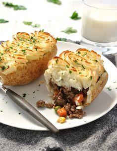 Shepherd's Pie Potato Skins Recipe - RecipeChart.com