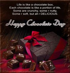 Happy Chocolate day Images – Chocolate day wishes, messages and pictures Happy Chocolate Day Pic, Chocolate Day Pictures, Chocolate Quotes, Love Chocolate, Chocolate Lovers, Happy Valentines Day Wishes, Valentines Day Messages, Birthday Wishes, Valentine Special