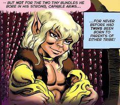 Cutter and Leetahs twins, Elfquest