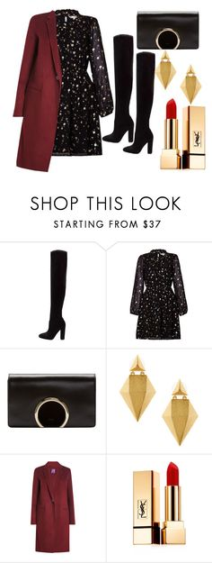 """formal #6"" by mdoraki ❤ liked on Polyvore featuring Chloé, Stephanie Kantis, Theory and Yves Saint Laurent"