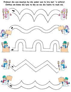 Grade R patterns Preschool Writing, Preschool Learning Activities, Preschool Worksheets, Educational Activities, Preschool Activities, Kids Learning, Toddler Preschool, Preschool Christmas, Christmas Activities