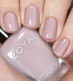 Zoya: Rue from the Naturel Collection. Neutral Nail Polish, Zoya Nail Polish, Nail Polish Colors, Nail Polishes, Long Nail Art, Chic Nails, Nail Polish Collection, Manicure And Pedicure, Pink Nails