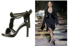 d872eaca316 Gucci Tom Ford Black Mink Fur Crystal Python Snakeskin Runway Shoe US 8.5  IT38.5