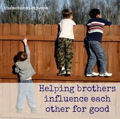 The #Boston bombers were brothers—news that has made many a boy moms heart stop over the last few days and wonder, could it happen to mine? Could my sons lead each other astray? How can I help them influence each other for good?