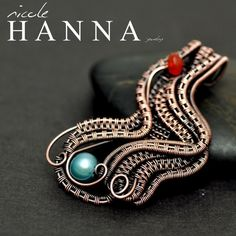 Teal Pearl Wave Pendant from Nicole Hanna Jewelry