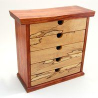 ❧ Bubinga And Spalted Maple Jewelry Box by