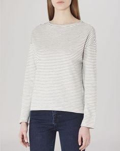 Reiss Top - Firenze Striped Jersey