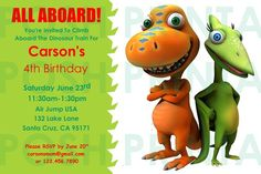 Dinosaur Train Invitation For Michelle Dino Party Birthday