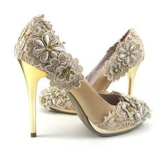 Cream Lace Wedding heels and other apparel, accessories and trends. Browse and shop 8 related looks.