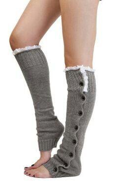 2014 Newest women girls leg warmers Button Down Boot Cuffs lace trim gaiters Boot Socks Crochet Leg Warmers Knit Leg Warmers Leg Warmers For Women, Grey Fashion, Womens Fashion, Emo Fashion, Crochet Leg Warmers, Knit Boots, Warm Boots, Boot Socks, Boot Cuffs