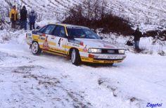 1987 MONTE CARLO RALLY - Audi 200 Quattro. Entrant: Audi Sport. Drivers: Walter Rohrl / Christian Geistdorfer. Place: 3rd o/a.