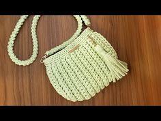 Como Fazer Uma Bolsa com Fio de Malha - Tutorial de Crochê - Modelo Clutch - T Shirt Yarn Bag - YouTube