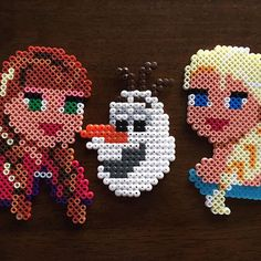 Frozen characters hama beads by soufson