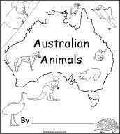 Australian Animals, A Printable Book: Cover Page. Print out an Australian Animals early reader book. Australia For Kids, Australia Crafts, Australia Animals, Australia Map, Australia School, Australia Wallpaper, Australia House, Queensland Australia, Geography For Kids