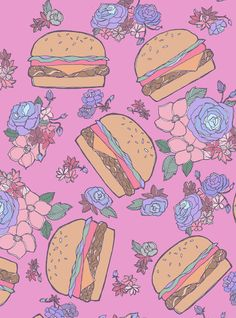close-up of my burger print. you know when you look at something for awhile and work on it too long you start to hate it? a day later, I love this so much.