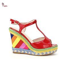 Cendriyon, Compensée Colors DESIGUAMOD Chaussures Femme Taille 36 - Chaussures cendriyon (*Partner-Link)