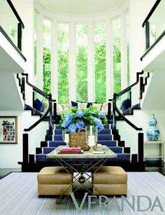 staircase: black trim